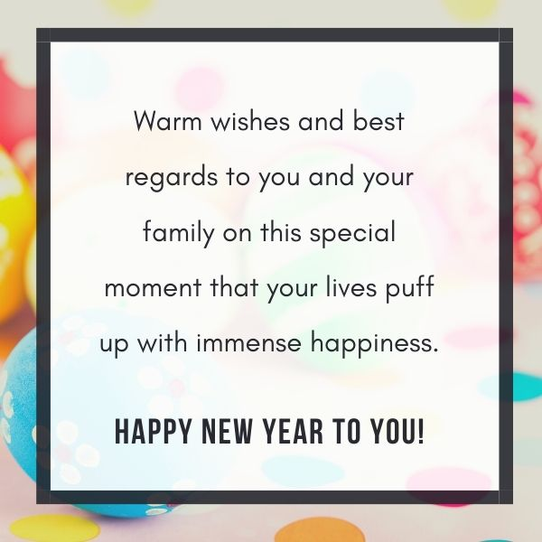 Warm wishes and best regards to you and your family on this special moment that your lives puff up with immense happiness.