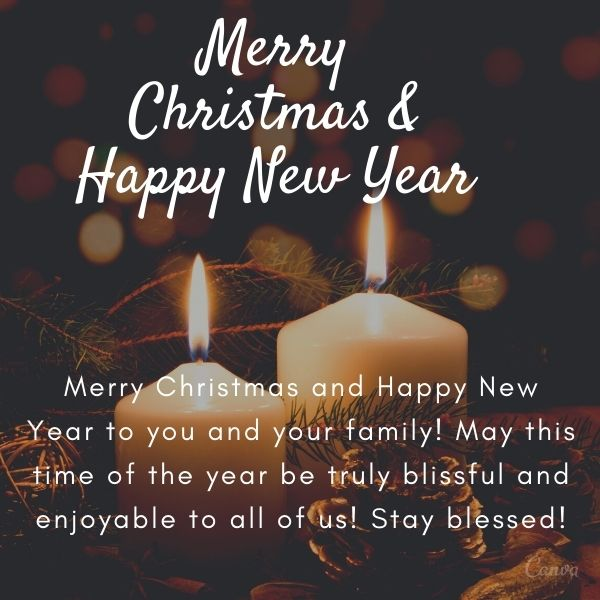 Merry Christmas and Happy New Year to you and your family! May this time of the year be truly blissful and enjoyable to all of us! Stay blessed!