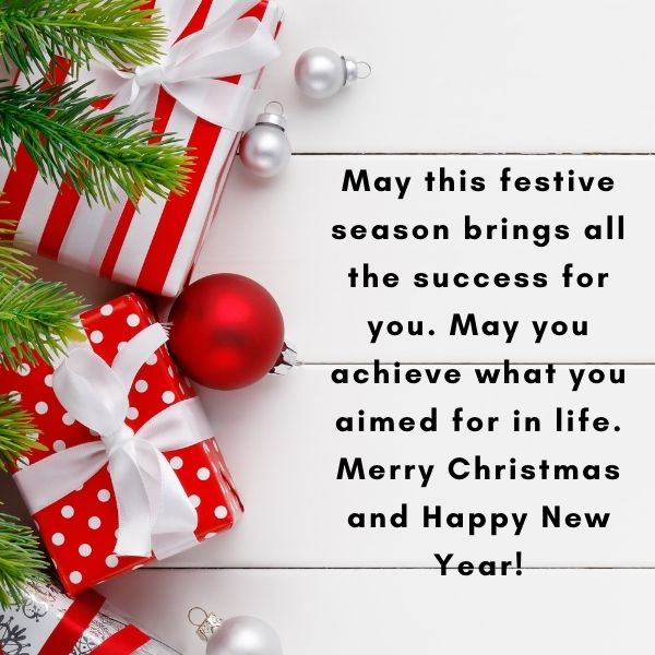 May this festive season sparkle and shine, may all of your wishes and dreams come true, and may you feel this happiness all year round. Merry Christmas and a very happy new year!